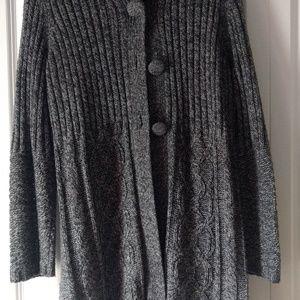 Women's 3-button sweater coat